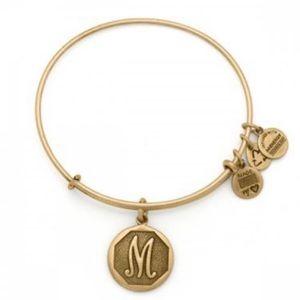 Alex & Ani Initial M Bracelet in Rafaelian Gold